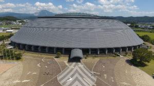 滋賀県 長浜ドーム ドローン撮影