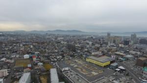 草津市 マンション建設予定地PR画像 ドローン空撮
