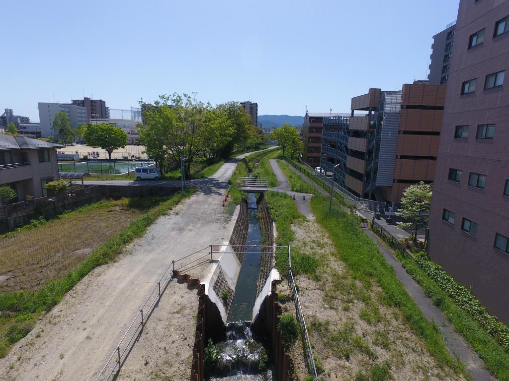 滋賀県草津市 河川工事 着工前状況撮影