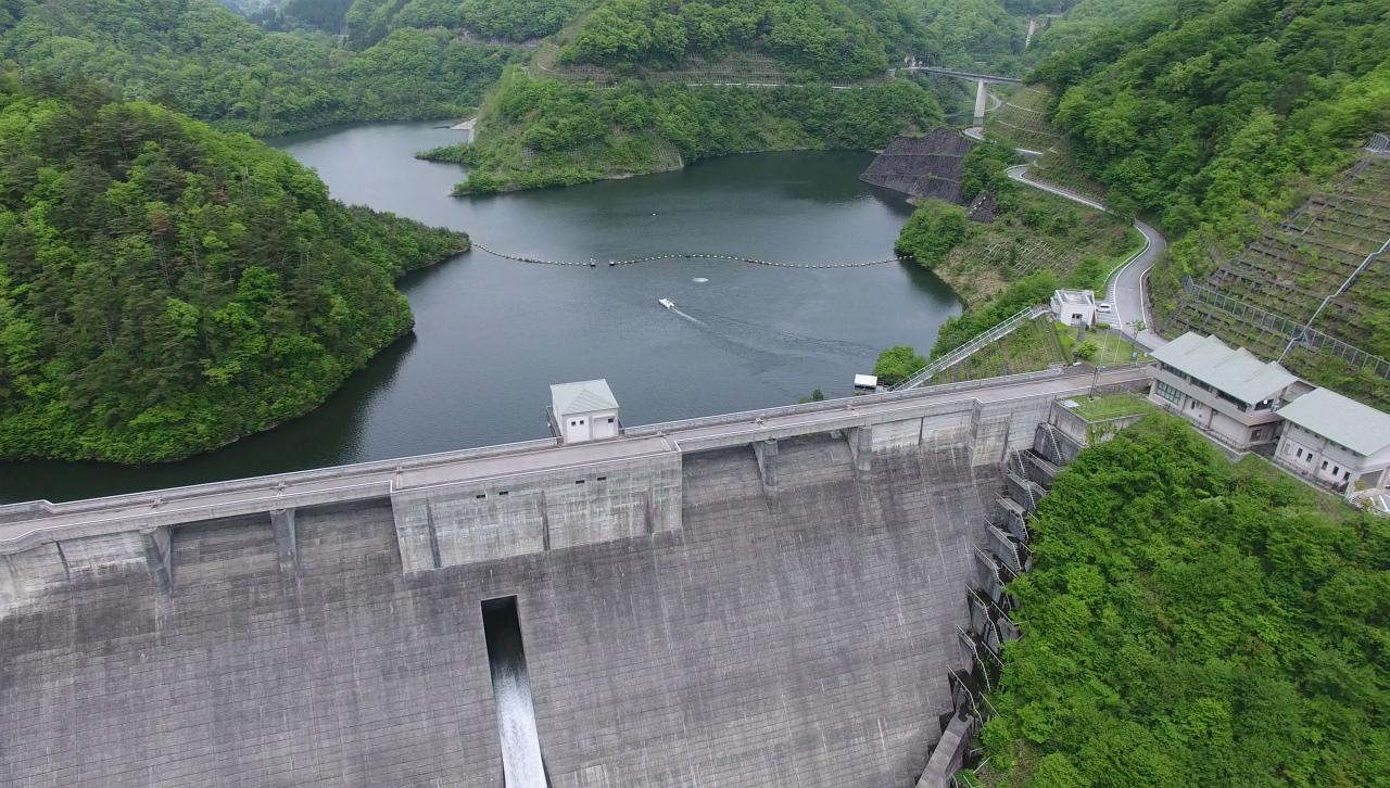 滋賀県 姉川ダム ドローン空撮