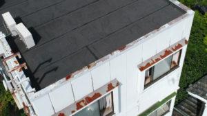 滋賀県長浜市 ビル屋上状態撮影 ドローン空撮